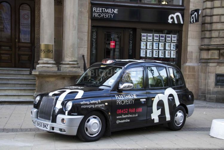 2013 Ubiquitous taxi advertising campaign for Fleet Milne Residential - Selling, Letting & Managing Property