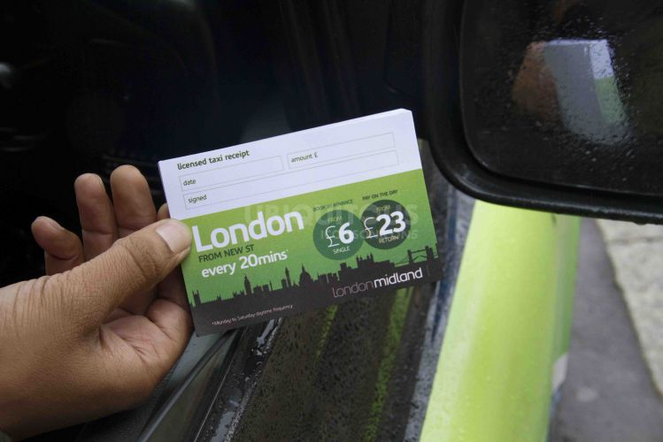 2013 Ubiquitous taxi advertising campaign for London Midland Trains - London from £23