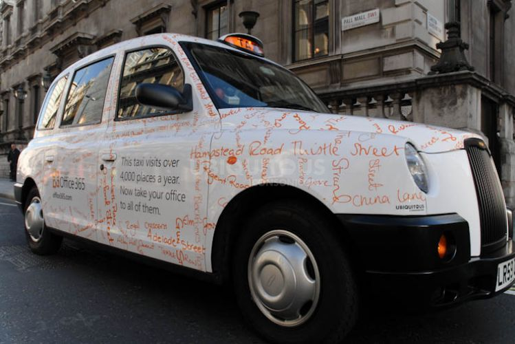 2011 Ubiquitous taxi advertising campaign for Microsoft - Microsoft Office 365
