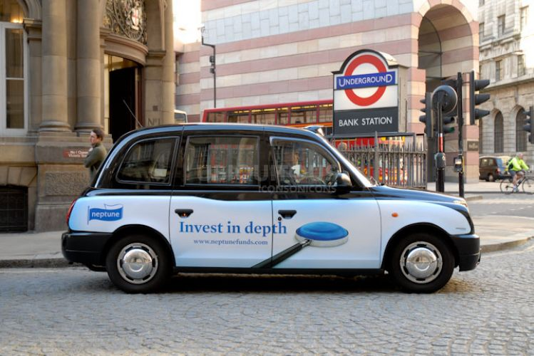 2010 Ubiquitous taxi advertising campaign for Neptune - Invest In Depth