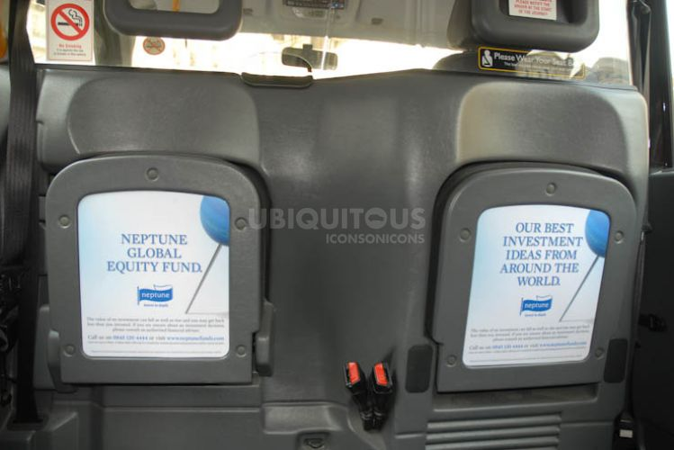 2011 Ubiquitous taxi advertising campaign for Neptune - Neptune Global Equity Fund