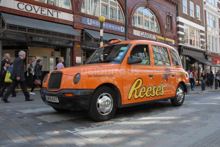 2012 Ubiquitous taxi advertising campaign for Reese's - Reese's Perfect