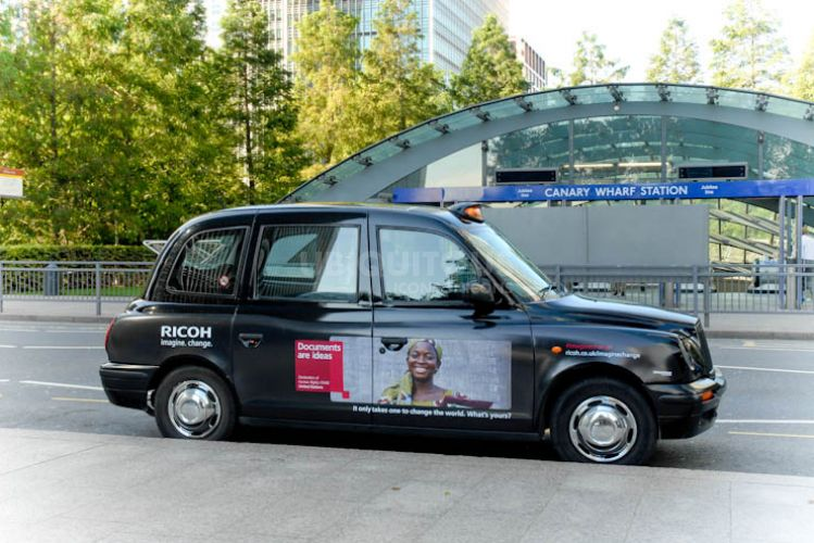 2012 Ubiquitous taxi advertising campaign for Ricoh - Imagine. Change.