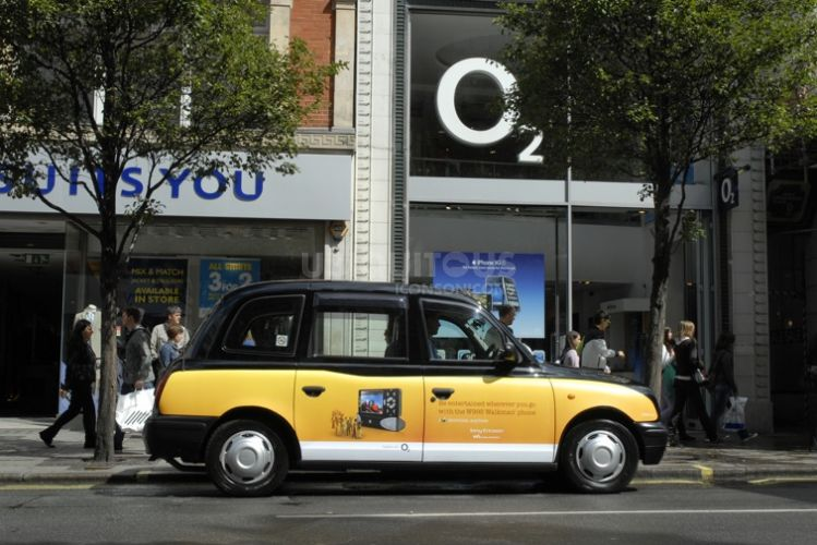 "2009 Ubiquitous taxi advertising campaign for Sony Ericsson - I ""love"" Showtime, Anytime"