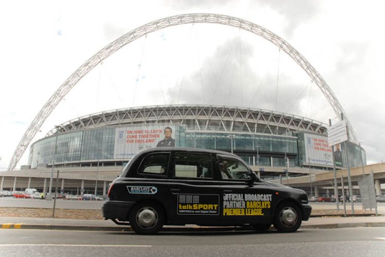 2010 Ubiquitous taxi advertising campaign for Talksport - Official Radio Broadcaster: Fifa World Cup