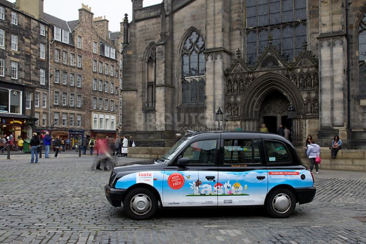 2012 Ubiquitous taxi advertising campaign for Taste Of Edinburgh - taste
