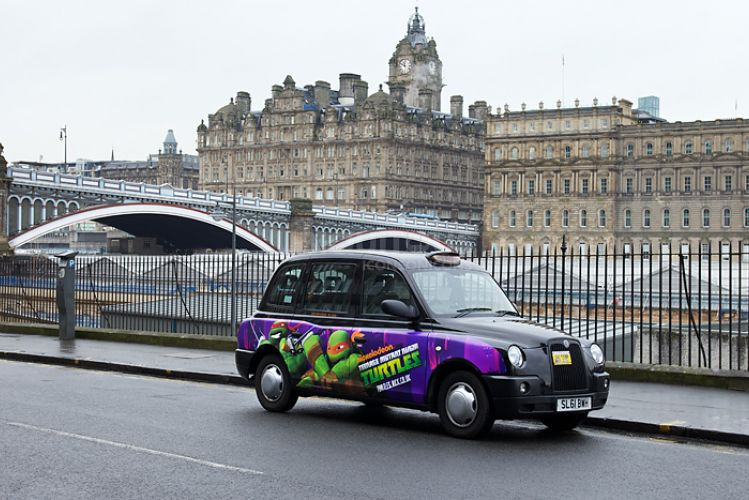 2012 Ubiquitous taxi advertising campaign for Nickelodeon - Teenage Mutant Ninja Turtles