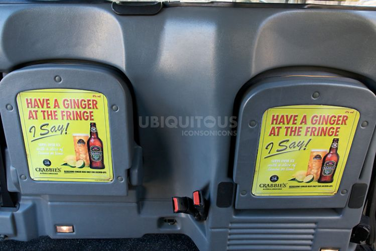 2011 Ubiquitous taxi advertising campaign for John Crabbies - Crabbies Alcoholic Ginger Beer
