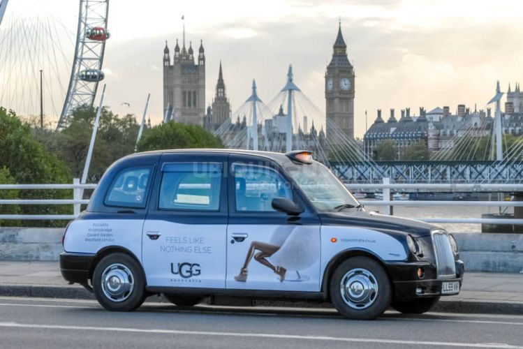 2013 Ubiquitous taxi advertising campaign for UGG - Feels Like Nothing Else