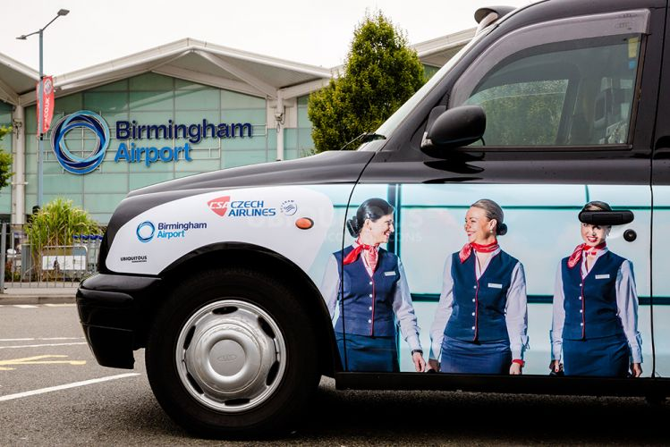 2016 Ubiquitous campaign for Birmingham Airport - Czech Airlines
