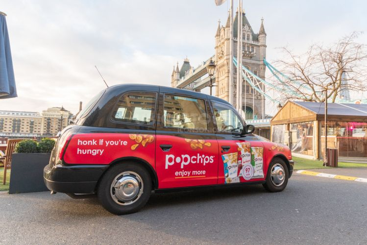Ubiquitous campaign for POPCHIPS - Honk if you're hungry