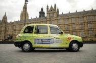 2008 Ubiquitous taxi advertising campaign for Sagatiba - Puro espirito do brasil
