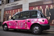 2011 Ubiquitous taxi advertising campaign for Bella Vie - Be Partylicious