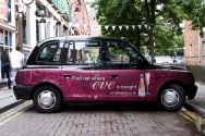 2009 Ubiquitous taxi advertising campaign for Carlsberg - Find out where Eve is tonight