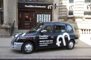 2012 Ubiquitous taxi advertising campaign for Fleet Milne Residential - Fleet Milne Residential