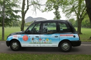 2011 Ubiquitous taxi advertising campaign for Taste Of Edinburgh - Taste!