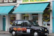 2010 Ubiquitous taxi advertising campaign for QMS  - Look For The Label