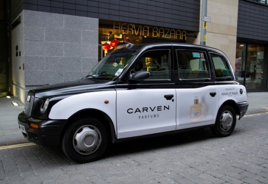 2013 Ubiquitous taxi advertising campaign for Carven - Carven Parfums