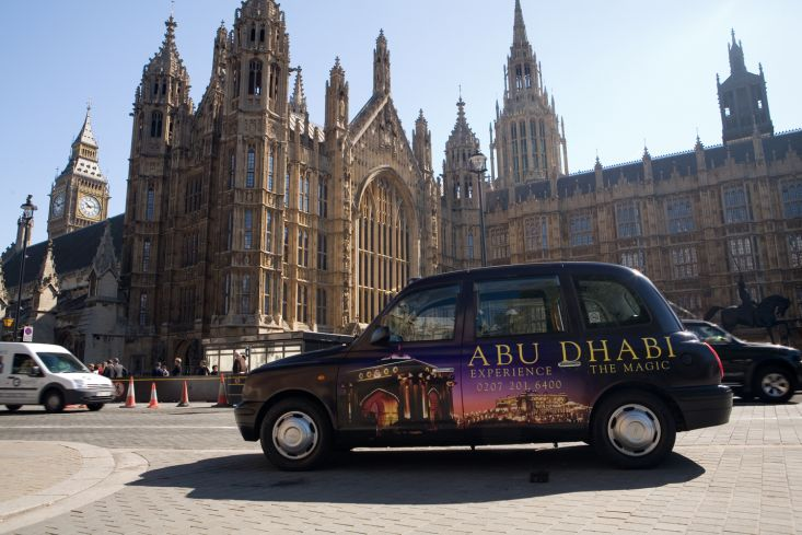 2006 Ubiquitous taxi advertising campaign for Abu Dhabi - Experience the magic