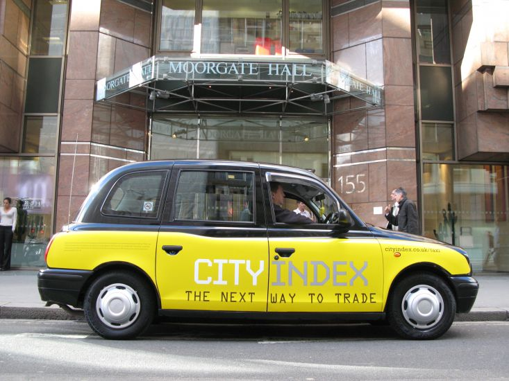 2007 Ubiquitous taxi advertising campaign for City Index - The next way to trade