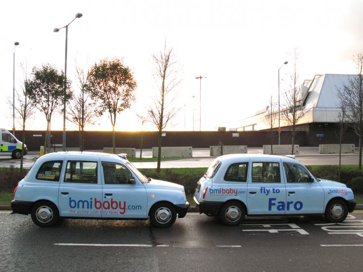 2008 Ubiquitous taxi advertising campaign for bmibaby - The airline with tiny fares