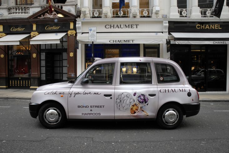 2008 Ubiquitous taxi advertising campaign for Chaumet - Catch me if you love me