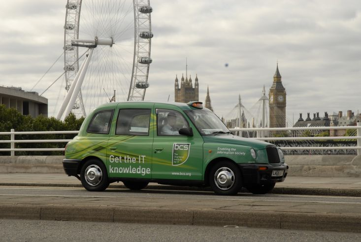 2009 Ubiquitous taxi advertising campaign for British Computer Society - Get the IT Knowledge