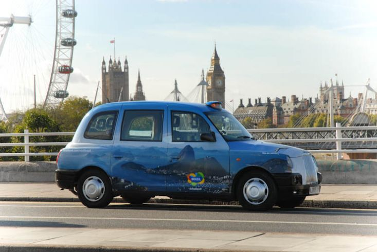 2011 Ubiquitous taxi advertising campaign for Brazil Tourist Board - Brazil is Calling You