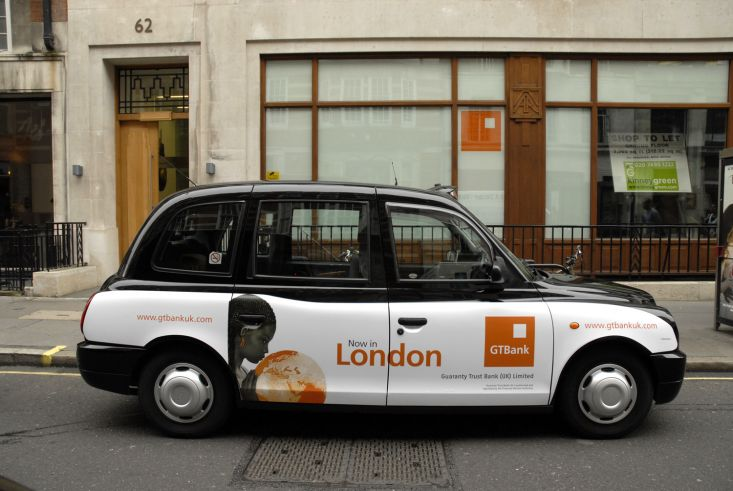 2008 Ubiquitous taxi advertising campaign for GT Bank - Proudly African Truly International
