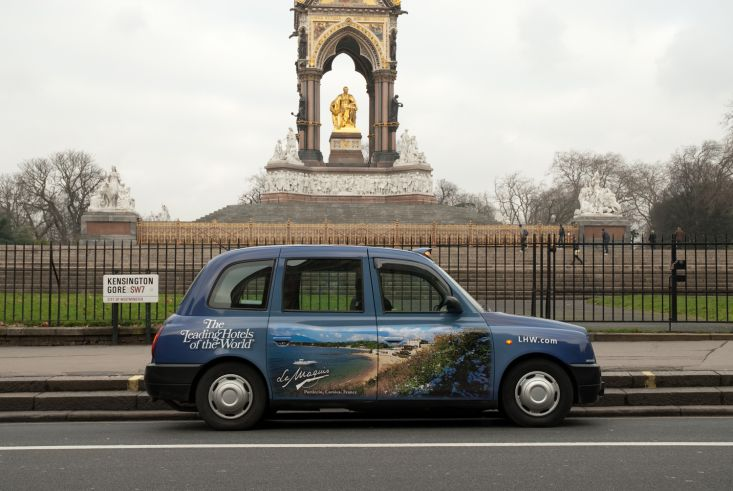2010 Ubiquitous taxi advertising campaign for Leading Hotels of the World - The Leading Hotels of The World