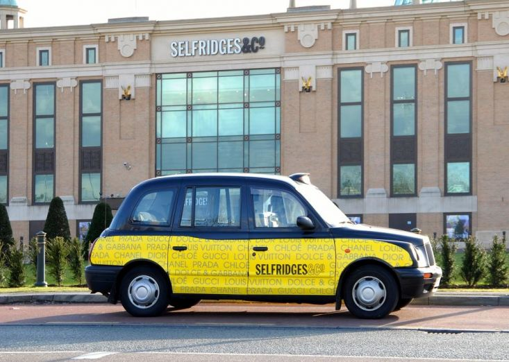 2008 Ubiquitous taxi advertising campaign for Selfridges - Get me to myself