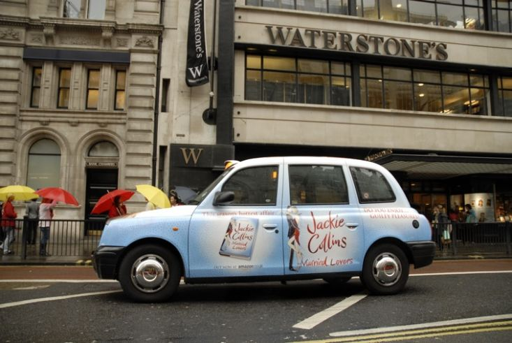 2008 Ubiquitous taxi advertising campaign for Simon & Schuster - Married Lovers
