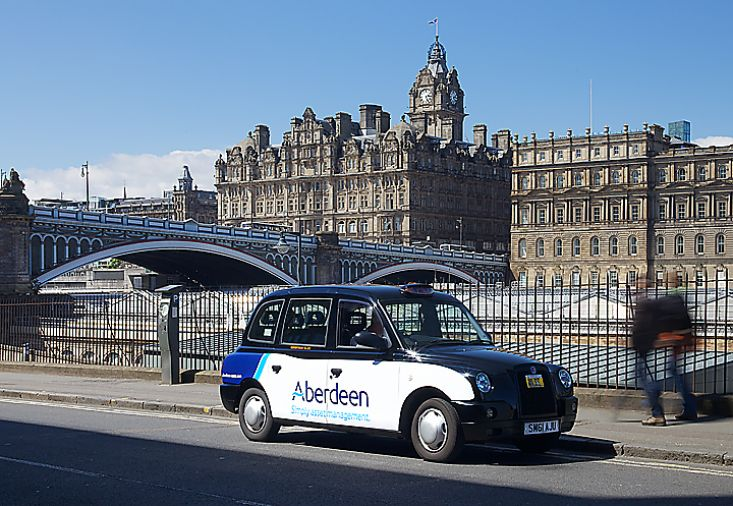 2013 Ubiquitous taxi advertising campaign for Aberdeen Asset Management  - Simply Asset Management