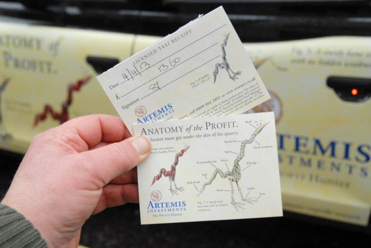 2013 Ubiquitous taxi advertising campaign for Artemis - Anatomy of the profit
