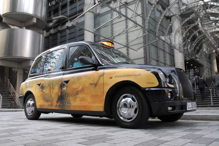 2011 Ubiquitous taxi advertising campaign for Artemis - artemisonline.co.uk