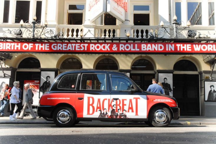 2011 Ubiquitous taxi advertising campaign for AKA - The Birth of the Greatest Rock & Roll Band in The World