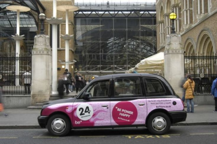 2005 Ubiquitous taxi advertising campaign for BE - BE Power Happy