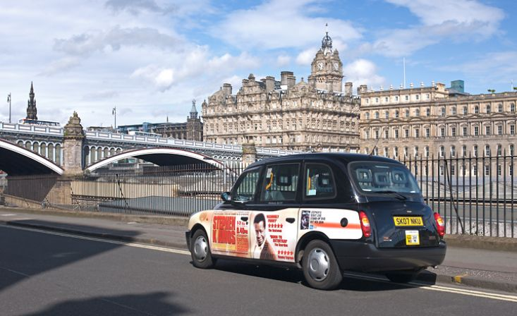 2009 Ubiquitous taxi advertising campaign for Bound & Gagged - Stephen K Amos