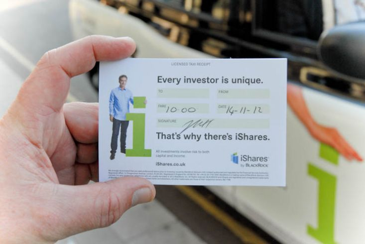 2012 Ubiquitous taxi advertising campaign for Blackrock Ishares - Every investor is unique. That's why there's IShares
