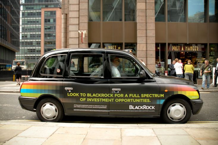 2010 Ubiquitous taxi advertising campaign for Blackrock  - Blackrock