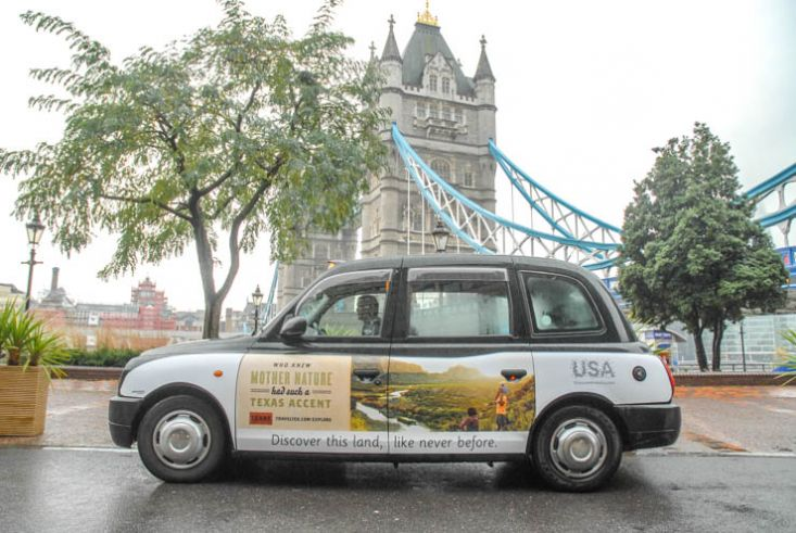 2013 Ubiquitous taxi advertising campaign for Brand USA - Discover the land, like never before