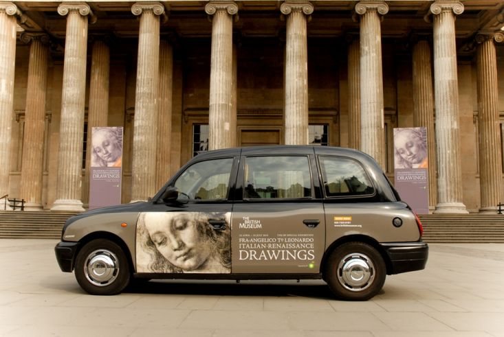 2010 Ubiquitous taxi advertising campaign for British Museum - Fra Angelico to Leonardo
