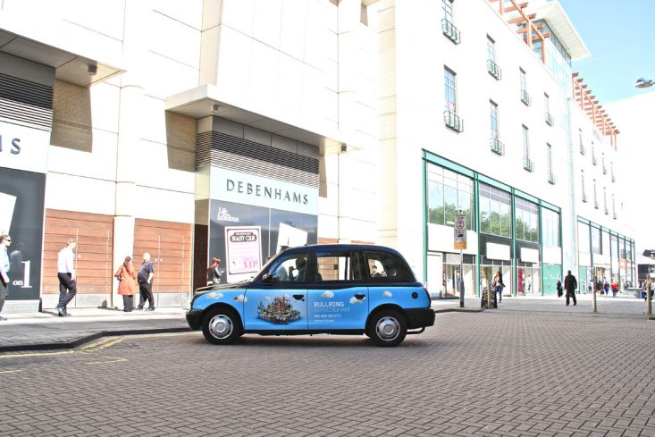 2012 Ubiquitous taxi advertising campaign for Bullring - We are so City