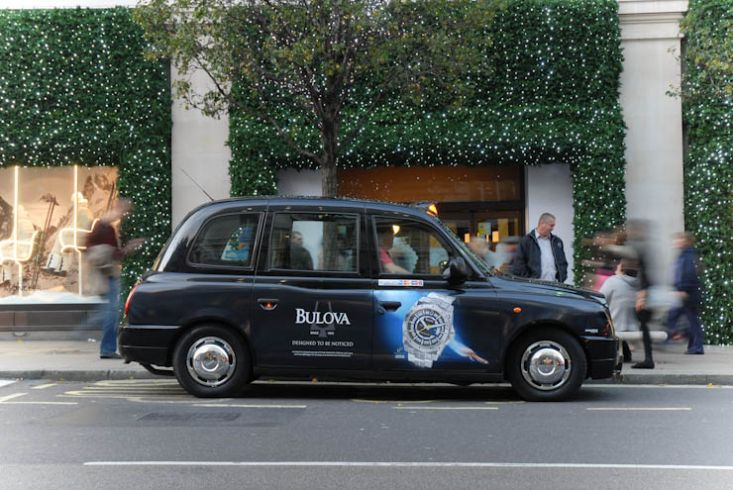 2011 Ubiquitous taxi advertising campaign for Bulova Watches - Designed to be Noticed