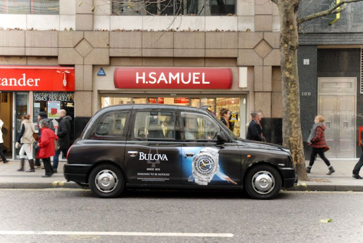2010 Ubiquitous taxi advertising campaign for Bulova Watches - Design To Be Noticed