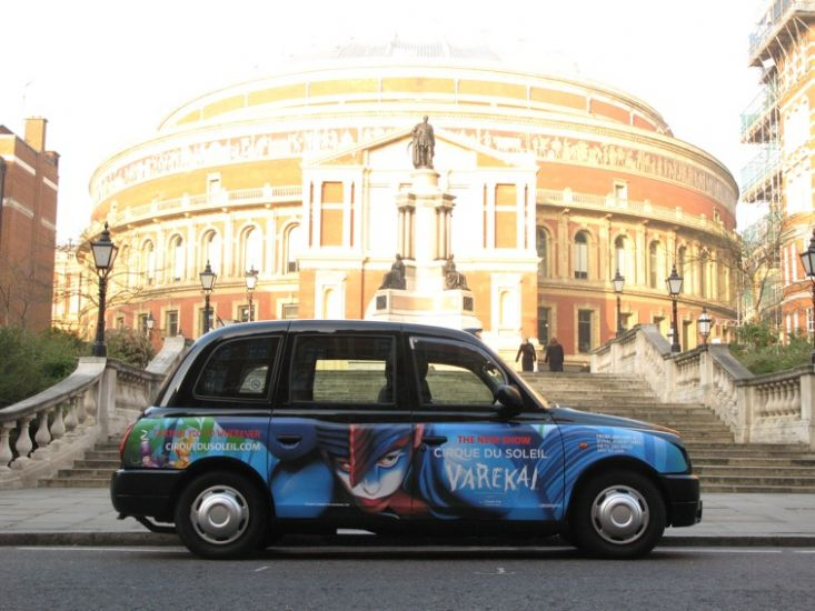 2008 Ubiquitous taxi advertising campaign for Cirque Du Soleil - Varekai