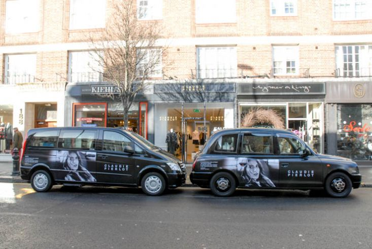 2014 Ubiquitous taxi advertising campaign for Claudie Pierlot Paris - Claudie Pierlot