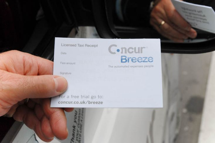 2011 Ubiquitous taxi advertising campaign for Concur Breeze - Make Taxi Receipts Less Taxing