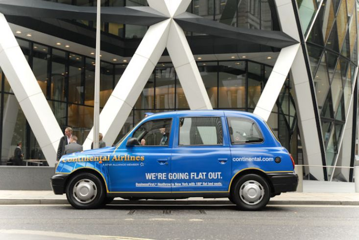 2010 Ubiquitous taxi advertising campaign for Continental Airlines - Various