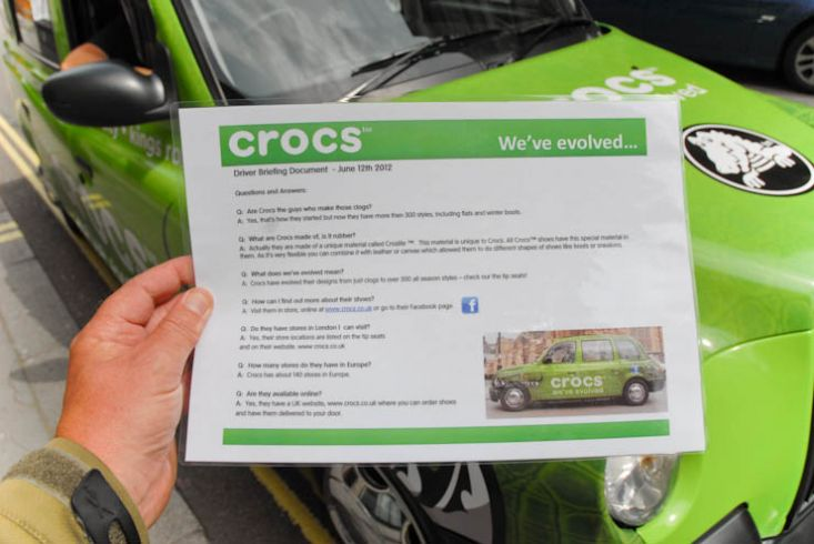 2012 Ubiquitous taxi advertising campaign for Crocs - Crocs we've evolved